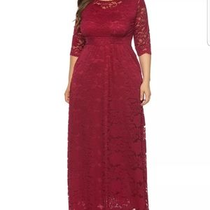 Plus Size Maxi Cocktail Party Evening Gown